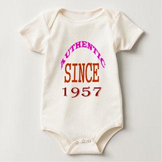 Authentic Since 1957 Birthday Designs Baby Bodysuit