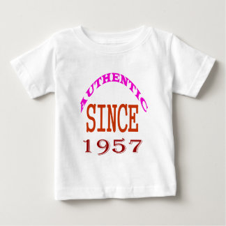 Authentic Since 1957 Birthday Designs Baby T-Shirt