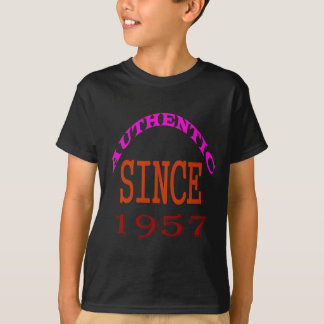 Authentic Since 1957 Birthday Designs T-Shirt