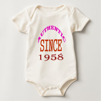 Authentic Since 1958 Birthday Designs Baby Bodysuit
