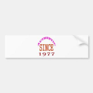Authentic Since 1978 Birthday Designs Bumper Sticker
