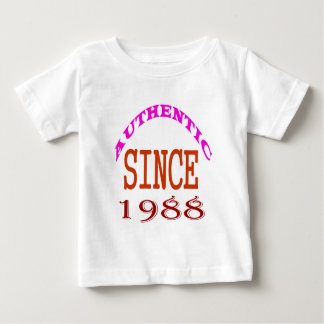 Authentic Since 1988 Birthday Designs Baby T-Shirt