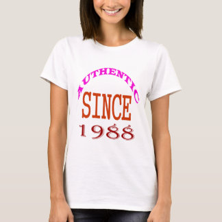 Authentic Since 1988 Birthday Designs T-Shirt