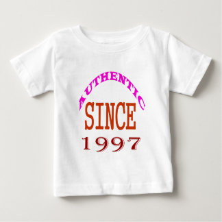 Authentic Since 1997 Birthday Designs Baby T-Shirt