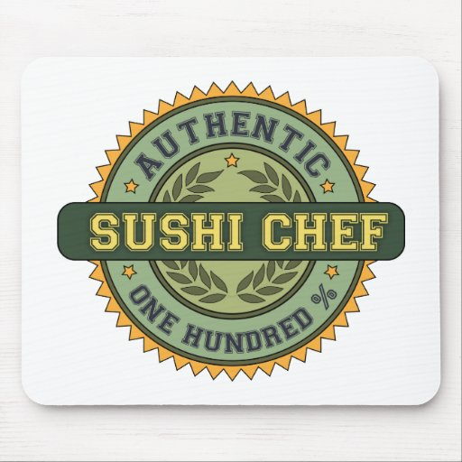 Authentic Sushi Chef Mouse Mat