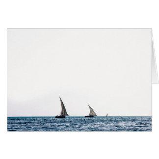 Authentic ZANZIBAR sailboats Card