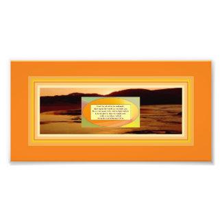 Authenticity Quote & Art on Beach Sunset Photo