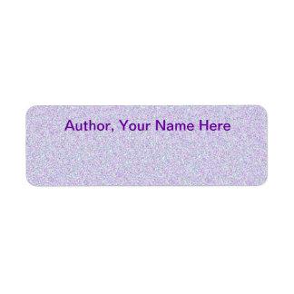 Author Autograph Stickers Return Address Label