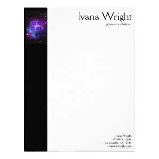 Author Book Cover Letterhead