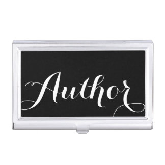 Author Calligraphy Business Card Holder