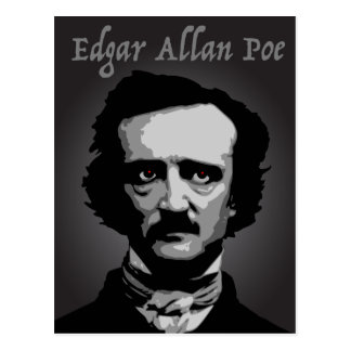 Author Edgar Allan Poe. Postcard
