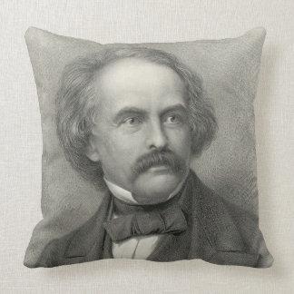 Author Nathaniel Hawthorne 1883 Throw Pillow