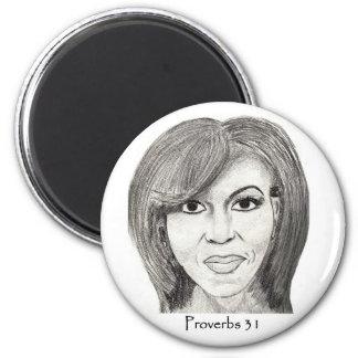 "Author of Faith Designs ""Michelle Obama"" magnet"