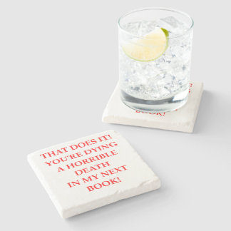 AUTHOR STONE COASTER