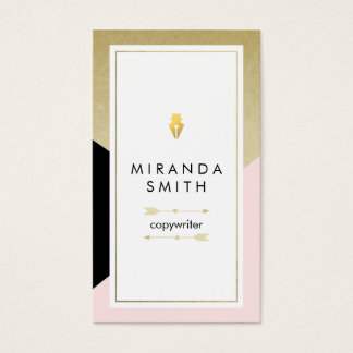Author Writer Business Card - Chic geometric