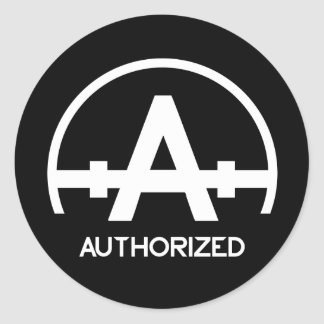 Authorized Apparel Logo Sticker