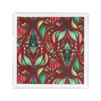 Autimn floral rustic beautiful stylish pattern acrylic tray