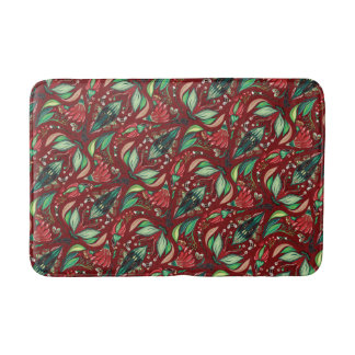 Autimn floral rustic beautiful stylish pattern bath mat