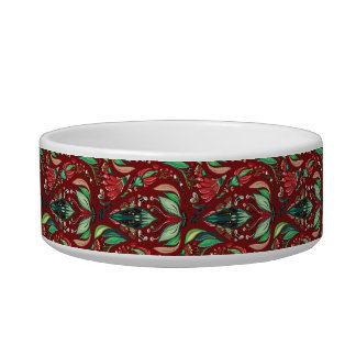 Autimn floral rustic beautiful stylish pattern cat bowls