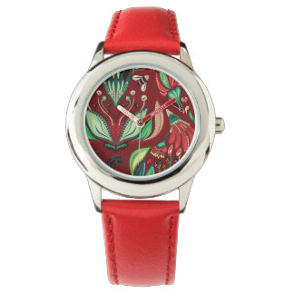 Autimn floral rustic beautiful stylish pattern watch