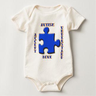 Autism, Acceptance, Love, Understand Bodysuits