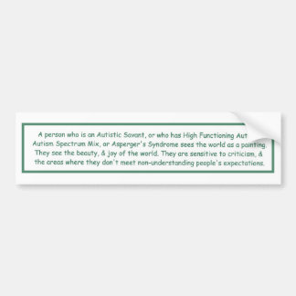 Autism Adventure Bumper Sticker