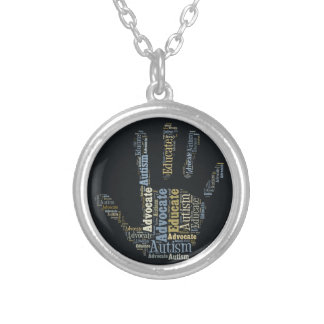 Autism Advocate  and Educate Necklace  Hand GTK