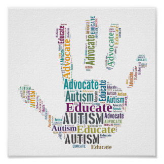 Autism Advocate  and Educate Poster GoTeamKate