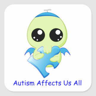 Autism Affects - Baby Cthulhu Square Sticker