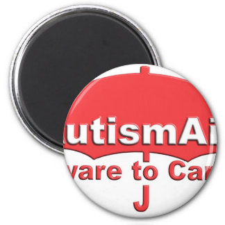 Autism Aid aware To care 2 Inch Round Magnet