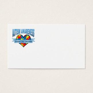 Autism Awareness. Acceptance Love Understanding Business Card