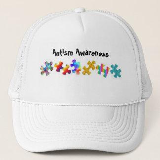 Autism Awareness (All White) Trucker Hat