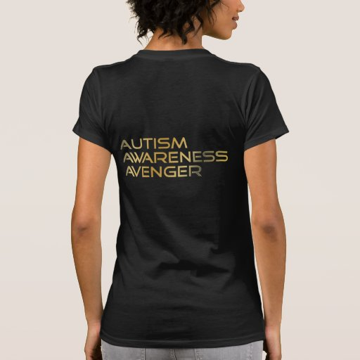 Autism Awareness Avenger Logo & Text T Shirt