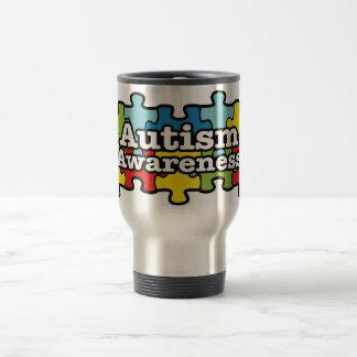 Autism Awareness Banner Travel Mug