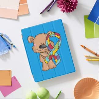 Autism Awareness Bear iPad Cover