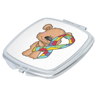 Autism Awareness Bear Vanity Mirrors