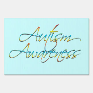 Autism Awareness Blue Yard Sign