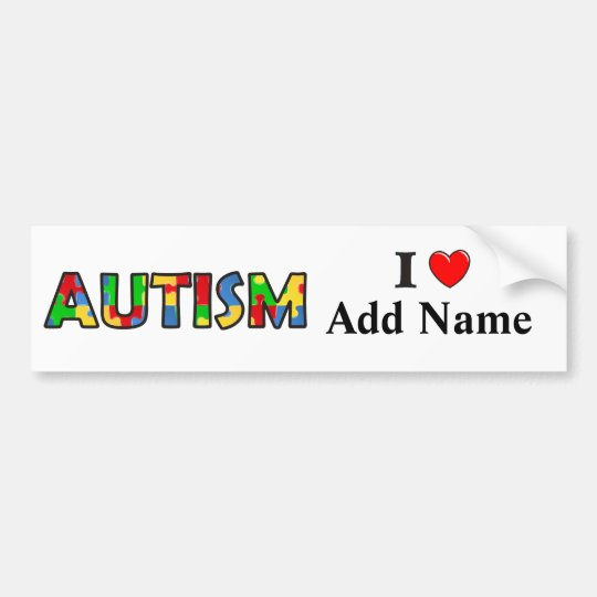Autism Awareness Bumper Sticker Customize