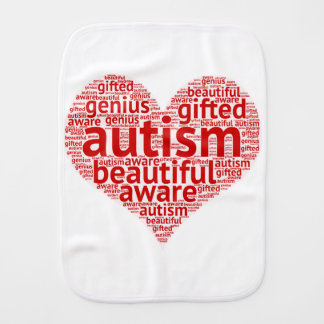 Autism Awareness Burp Cloth