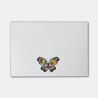 Autism Awareness Butterfly Post-it Notes