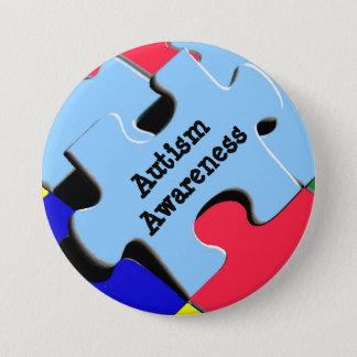 Autism Awareness Button Puzzle Pieces