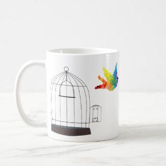 Autism Awareness Caged Bird Mug