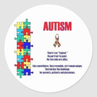 Autism Awareness Classic Round Sticker