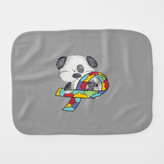 Autism Awareness Dog Burp Cloth