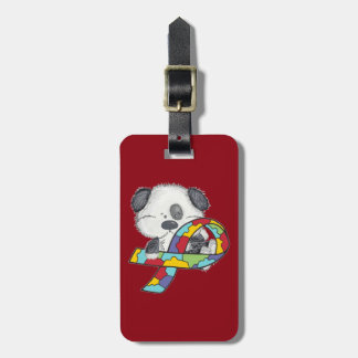 AUtism Awareness Dog Luggage Tag