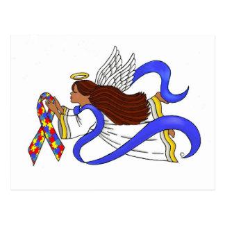 Autism Awareness Ethnic Angel Postcard