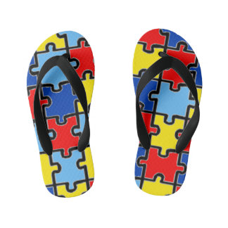 Autism Awareness Flip-Flops Kid's Flip Flops