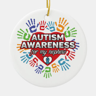 Autism Awareness for my Nephew Ceramic Ornament