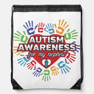 Autism Awareness for my Nephew Drawstring Bag