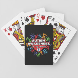 Autism Awareness for my Nephew Playing Cards